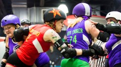 Alley Kats Get Revenge on the Saucies, Pull Out 184-155 Win