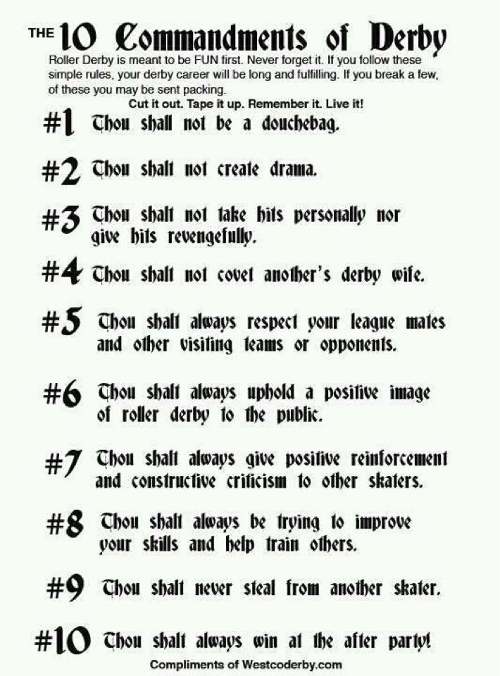 derby commandments